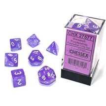 27577 Set di Dadi Borealis Polyhedral Luminary Purple/white 7-Die Set