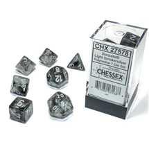 27578 Set di Dadi Borealis Polyhedral Luminary Light Smoke/silver 7-Die Set