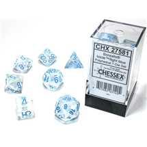 27581 Set di Dadi Borealis Polyhedral Luminary Icicle™/light blue 7-Die Set