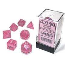 27584 Set di Dadi Borealis Polyhedral Luminary Pink/silver 7-Die Set