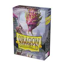 11139 Dragon Shield Small Sleeves - Japanese Matte Pink Diamond 'Cornelia' (60 Sleeves)