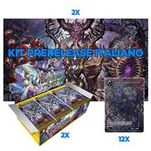 1 Kit Prerelease (2 playmat + 12 promo) + 2 Box FOW S2 ITA