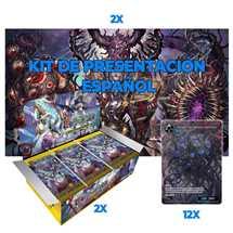 1 Kit de Presentación (2 playmat + 12 promo) + 2 Box FOW S2 ESP