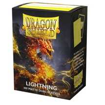 15047 Dragon Shield Dual Matte Sleeves - Lightning 'Ailia' (100 Sleeves)