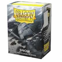 15005 Dragon Shield Dual Matte Sleeves - Snow 'Nirin' (100 Sleeves)