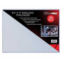 "E-15558 UP -8-1/2"" X 11"" Side Load Toploader 25ct (sized to fit 8-1/2 x 11 card sleeves)"