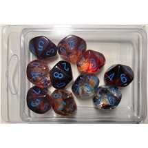 27359 Set di 10 Dadi d10 Nebula Primary/blue