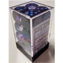 27757 Set 12 Dadi D6 (16mm) Nebula Nocturnal/blue