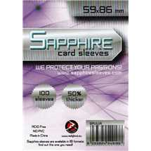 Deck Protector Sapphire Sleeves - Lilla (59x86mm)