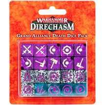 110-14 Warhammer Underworlds: Direchasm - Set di Dadi della Grande Alleanza Morte