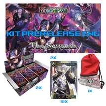 1 Kit Prerelease (2 playmat + 12 promo) + 72 buste FOW S4 ING