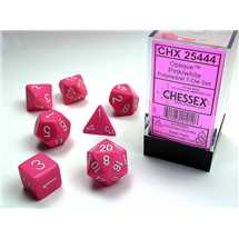 25444 Opaque Polyhedral Pink/white Dice