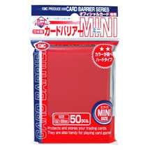 KMC 1201 Mini Deck Protector Metallic Red (dim. Yu-Gi-Oh!)