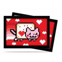 UPR84332 Mini Deck Protector Nyan Cat ValentNyan (60 Sleeves)