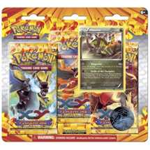 Pokemon 3 Pack Blister with Holo (Haxorus) in Inglese