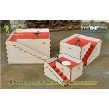 BAI000044 Prepainted Q-Building Pack (White & Red)