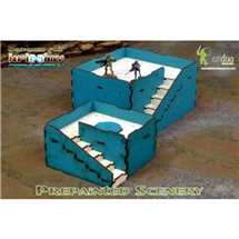 BAI000045 Prepainted Q-Building Pack (Turquoise & White)