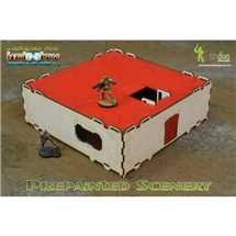 BAI000048 Prepainted Modular Building (White & Red