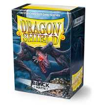 11002 Dragon Shield Standard Sleeves - Matte Black (100 Sleeves)