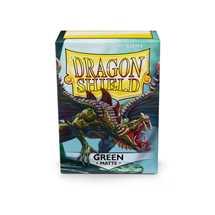 11004 Dragon Shield Standard Sleeves - Matte Green (100 Sleeves)