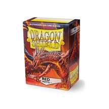 11007 Dragon Shield Standard Sleeves - Matte Red (100 Sleeves)