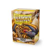 11006 Dragon Shield Standard Sleeves - Matte Gold (100 Sleeves)