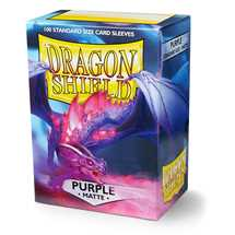 11009 Dragon Shield Standard Sleeves - Matte Purple (100 Sleeves)