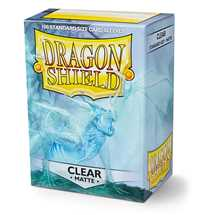 AT-11001 Dragon Shield Standard Sleeves - Matte Clear (100 Sleeves)