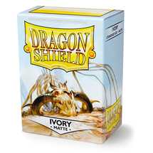 11017 Dragon Shield Standard Sleeves - Matte Ivory (100 Sleeves)