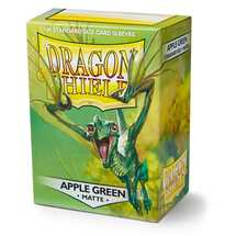 11018 Dragon Shield Standard Sleeves - Matte Apple Green (100 Sleeves)