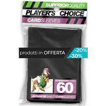 PCA1001 Player's Choice Standard Deck Protector Black FUORI TUTTO