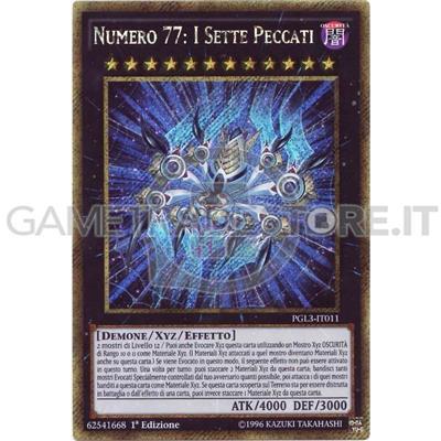 PGL3-IT011 NUMERO 77 I SETTE PECCATI ORO ITALIANO YU-GI-OH